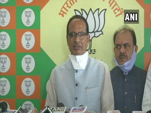 Madhya Pradesh Chief Minister Shivraj Singh Chouhan speaking to media on Saturday.