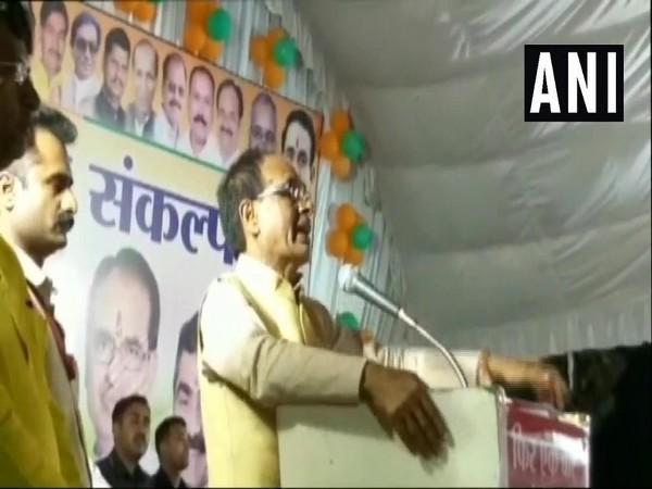 Shivraj Singh Chouhan addressing a gathering in Rajgarh on Thursday