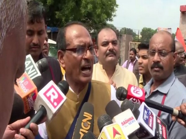 Former MP chief minister Shivraj Singh Chouhan spoke to media here on Wednesday. Photo/ANI