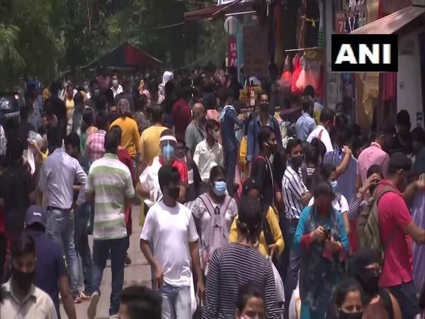 Visual from Sarojini Nagar market (Photo/ANI)