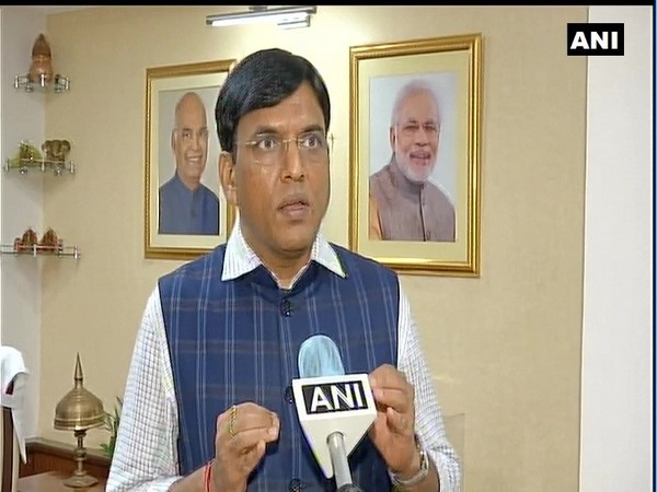Mansukh Mandaviya, Minister of State for Shipping (Independent Charge) speaking to ANI in New Delhi on Friday. (Photo/ANI)