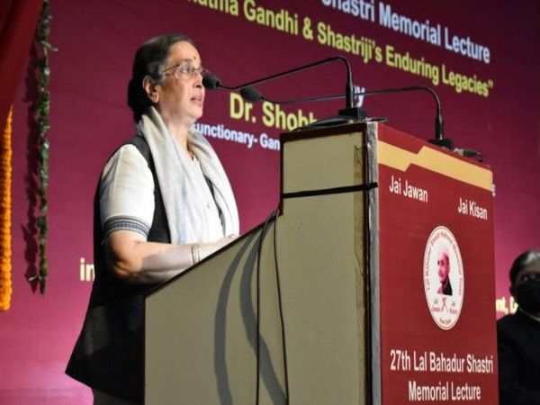 Dr Shobhana Radhakrishna delivered 27th Lal Bahadur Shastri Memorial Lecture at LBSIM campus Dwarka Delhi