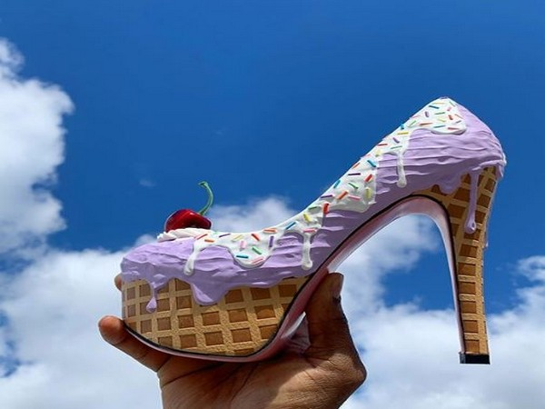 Want a cakewalk? Chris Campbell presents sweet-themed high heels