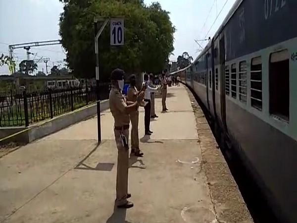 Shramik Special train departing from Chikkabanavara.