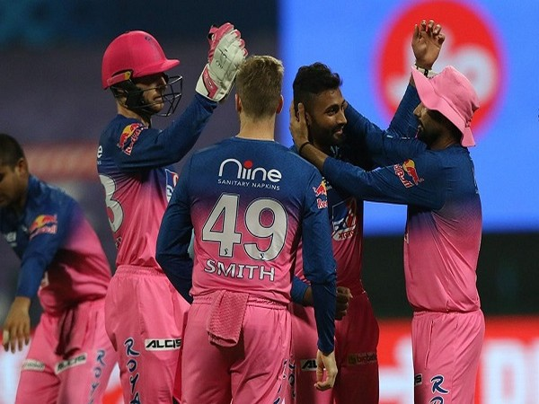 Shreyas Gopal of Rajasthan Royals celebrates the wicket of Mumbai Indians skipper Rohit Sharma (Image: BCCI/IPL)