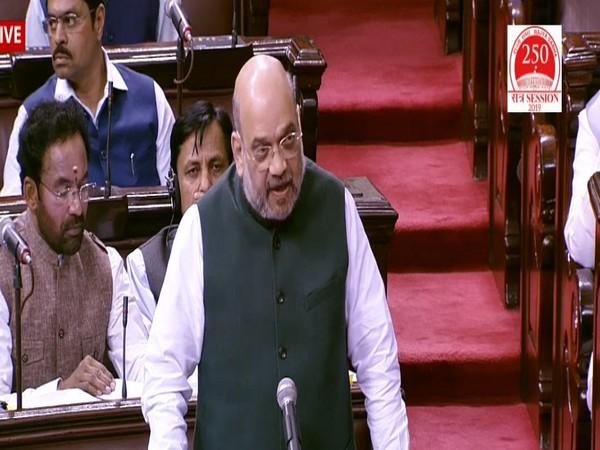 Union Home Minister Amit Shah speaking in Rajya Sabha on Wednesday