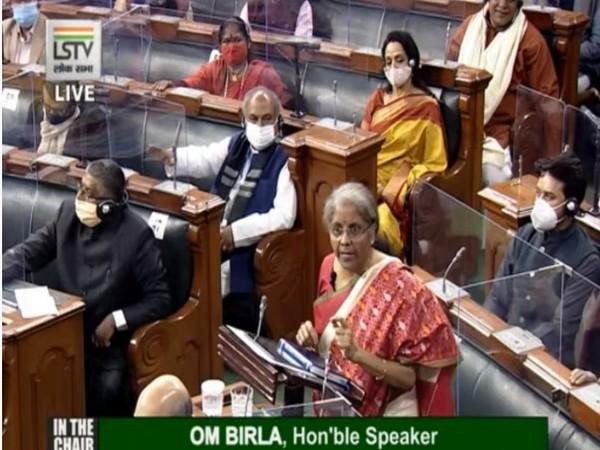 Finance Minister Nirmala Sitharaman in Parliament.