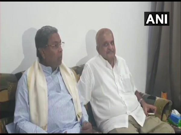 Congress leader Siddaramaiah speaking to reporters in Davangere, Karnataka on Wednesday.