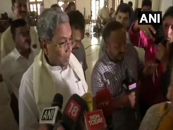 Former Karnataka Chief Minister Siddaramaiah speaking to media in Bengaluru on July 15.