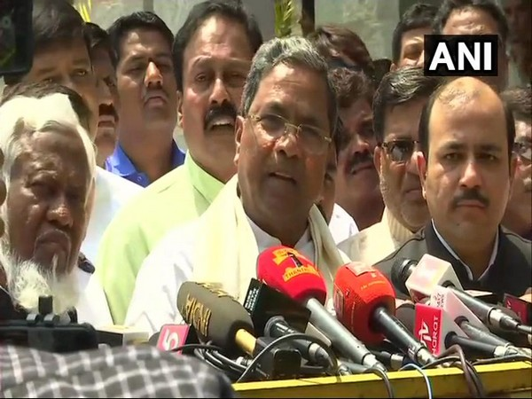 Congress leader Siddaramaiah, left, and JDS leader Danish Ali addressing media after the Co-ordination Committee meeting of two parties in Bengaluru on Monday. Photo/ANI