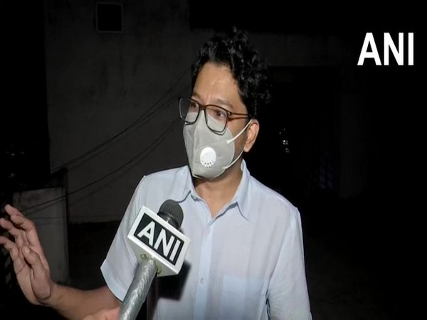 Siddharth Pithani speaking to ANI in Hyderabad on Friday.