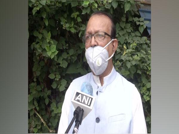 BSP national spokesperson Sudhindra Bhadoria speaking to ANI on Tuesday. (Photo/ANI)