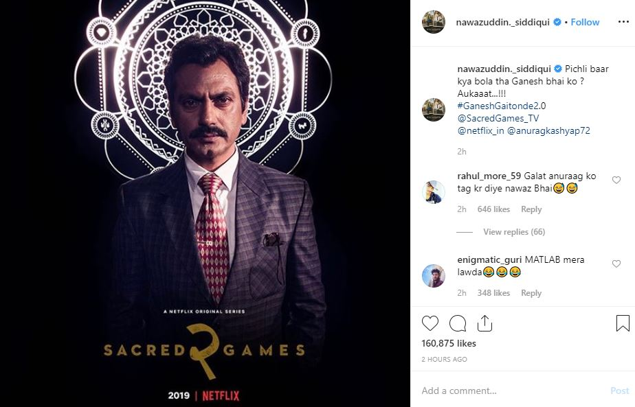 Sartaj and Ganesh's look from 'Sacred Games 2' out