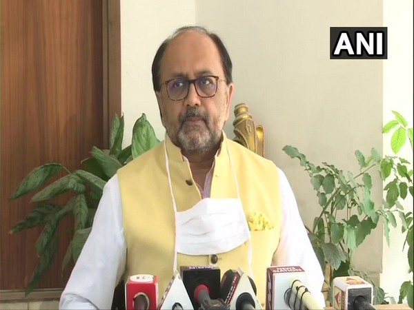Uttar Pradesh minister Sidharth Nath Singh during a press conference in Lucknow on Thursday. (Photo/ANI)