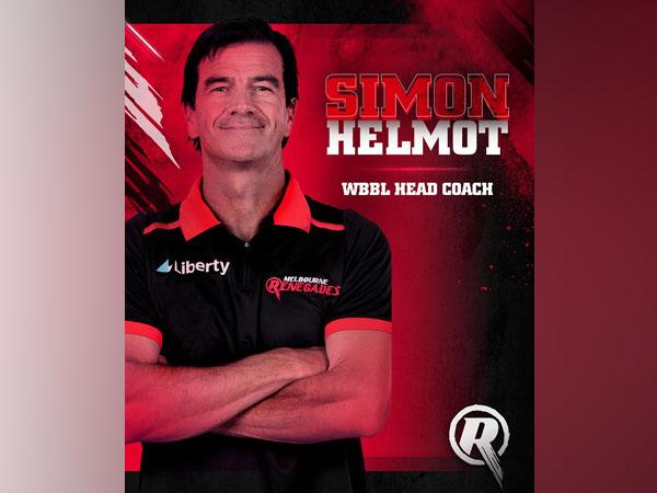 Melbourne Renegades coach Simon Helmot (Image: Melbourne Renegades' Twitter)