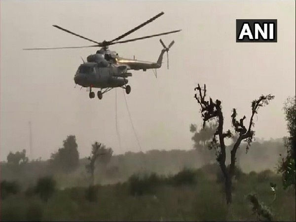 Visual from the exercise underway in Barmer, Rajasthan.