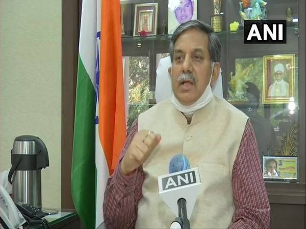 UGC Chairman Prof DP Singh speaking to ANI on Thursday in New Delhi.