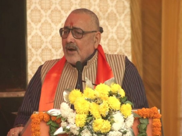 Union Minister Giriraj Singh speaking at an event in New Delhi on Sunday. Photo/ANI