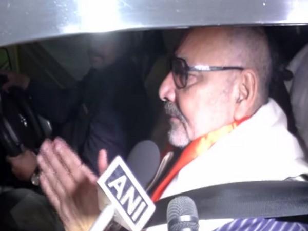Union Minister Giriraj Singh talking to media in New Delhi on Sunday
