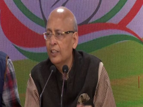 Abhishek Manu Singhvi addressing press conference in New Delhi on Sunday (photo/ANI)
