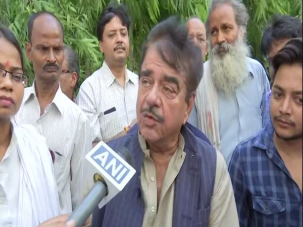Congress leader Shatrughan Sinha speaking to ANI in Patna on Wednesday. (Photo/ANI)