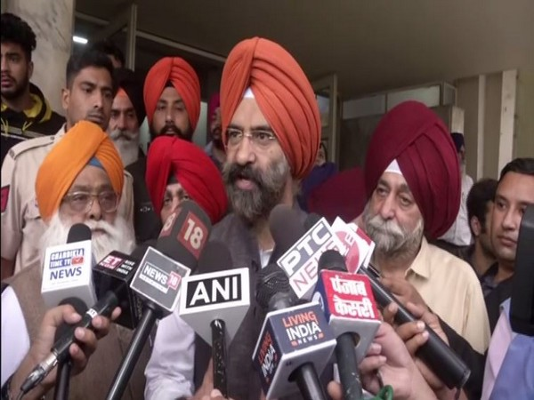 Manjinder Singh Sira speaking to reporters in New Delhi on Thursday. Photo/ANI
