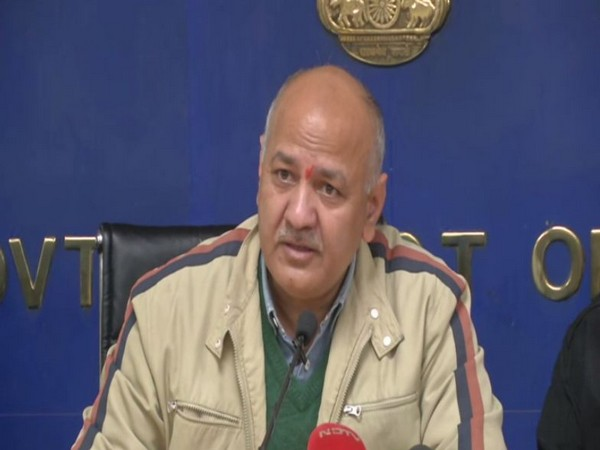 Delhi Deputy Chief Minister Manish Sisodia addressing a press conference on Tuesday in New Delhi. Photo/ANI