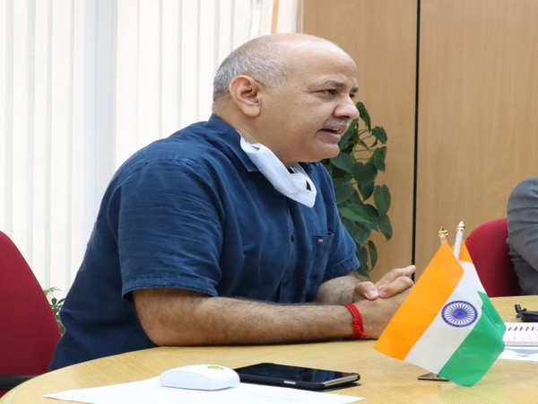 Delhi's Deputy Chief Minister Manish Sisodia at the webinar on Thursday.