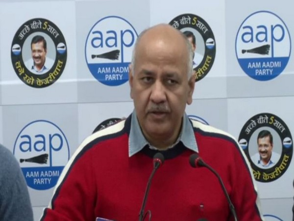 AAP leader Manish Sisodia addressing a press conference in New Delhi on Saturday. Photo/ANI