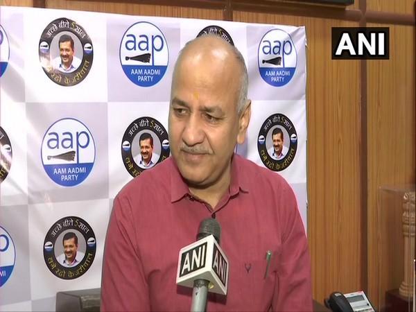 AAP leader Manish Sisodia talking to ANI in New Delhi on Sunday