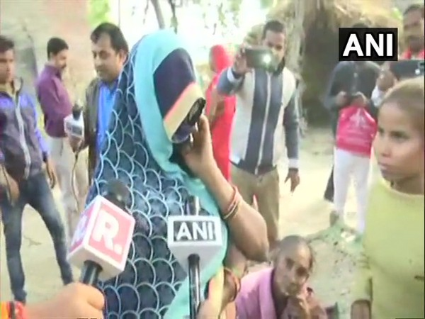 Unnao rape victim's sister-in-law speaking to reporters on Saturday.