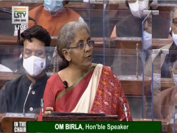 Finance Minister Nirmala Sitharaman presenting the Budget 2020-21 on Monday.