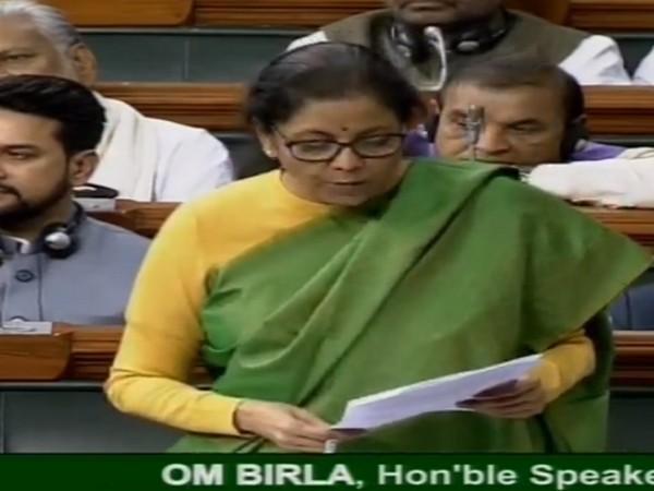 Finance Minister Nirmala Sitharaman speaking in the Lok Sabha on Wednesday.