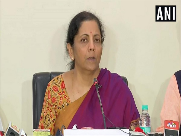 Finance Minister Nirmala Sitharaman speaking to reporters in Pune, Maharashtra on Tuesday.