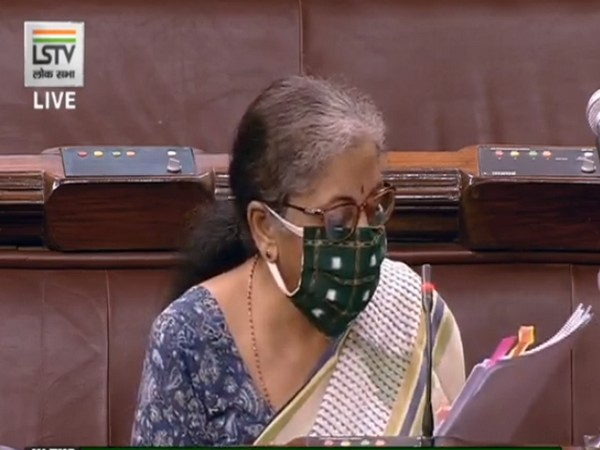 Finance Minister Nirmala Sitharaman speaking in Lok Sabha on Wednesday.