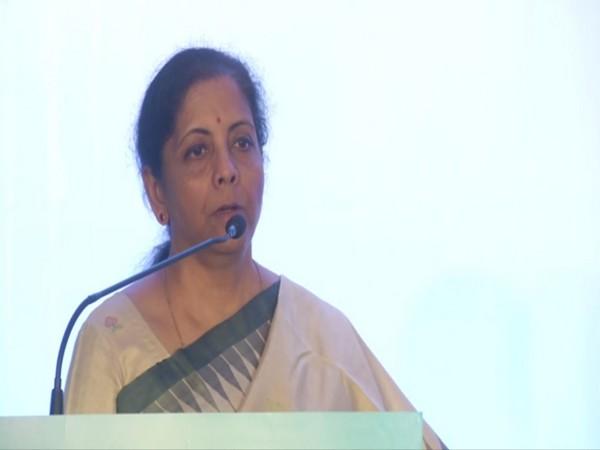 Union Finance Minister Nirmala Sitharaman addressing the 6th G Ramachandran Memorial Lecture in Chennai on Saturday. Photo/ANI