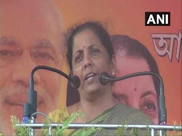 Union Minister Nirmala Sitharaman addressing a public rally at Kharagpur on Wednesday