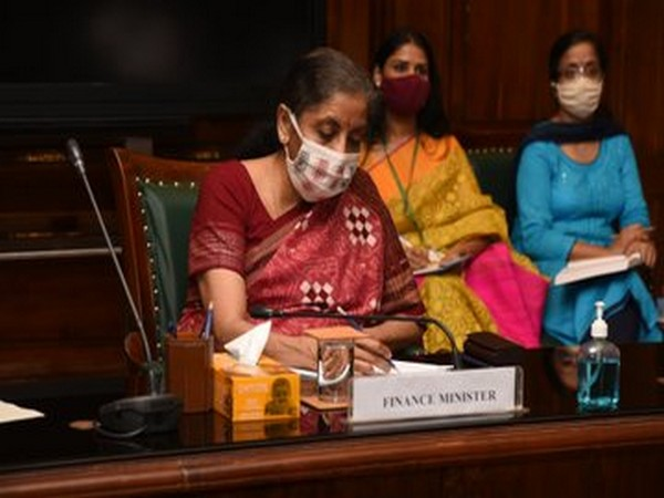 Union Finance Minister Nirmala Sitharaman at the review meeting of seven CPSEs on Friday.