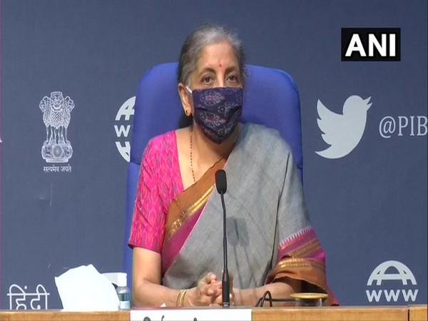 Finance Minister Nirmala Sitharaman addressing a press conference on Monday.