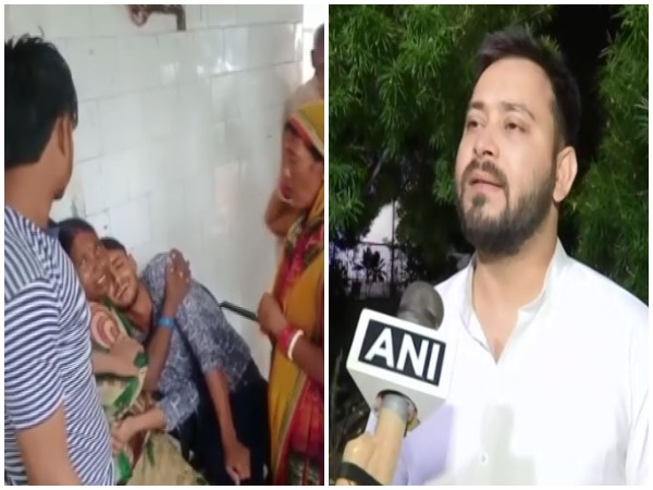 RJD leader Tejashwi Yadav conveyed deepest condolences to the families of the deceased. (Photo/ANI)