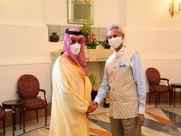External Affairs Minister S Jaishankar with his Saudi counterpart Prince Faisal bin Farhan.