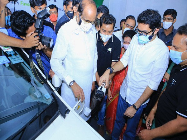 Maharashtra Minister Aaditya Thackeray inaugurating EV enabled parking lot in Mumbai, earlier this year (Photo/Twitter)