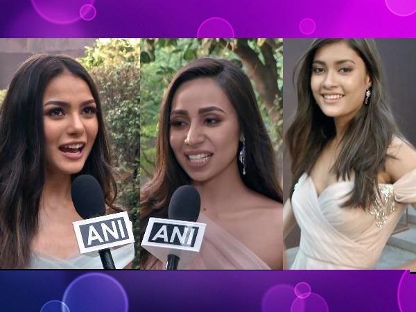 Sang Doma Tamang, Miss India Sikkim, Marina Kiho, Miss India Nagaland and Jyotishmita Baruah, Miss India Assam