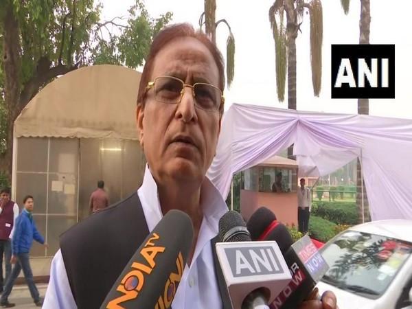 Samajwadi Party leader Azam Khan spoke to media in Delhi on Thursday. photo/ANI