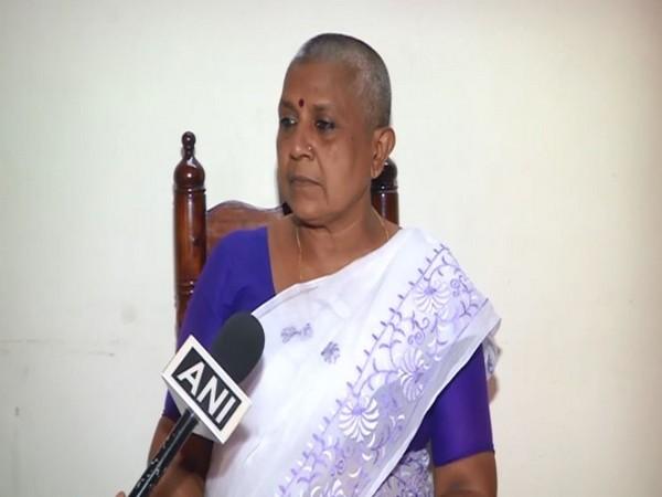 Former Kerala Congress' women's wing president Lathika Subhash speaking to ANI.