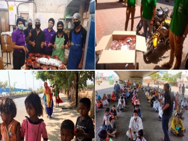 Meals being served daily to the poor and needy in Mumbai and Pune by Caring Indians.