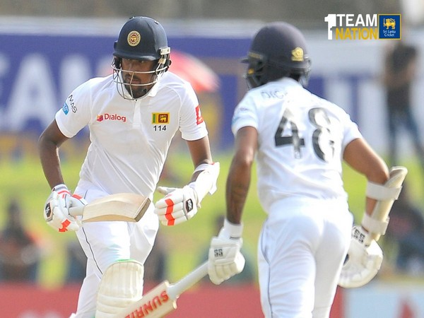 Sri Lanka finished at 227/7 after the end of play on the second day of the first Test against New Zealand. (Photo/Sri Lanka Twitter)