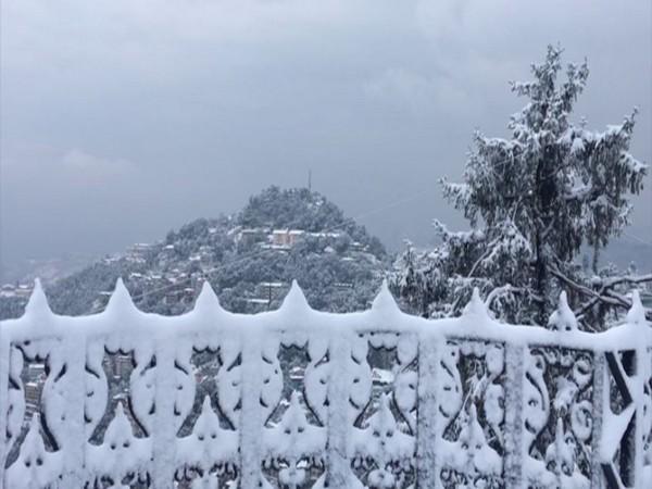 Shimla received fresh snowfall.