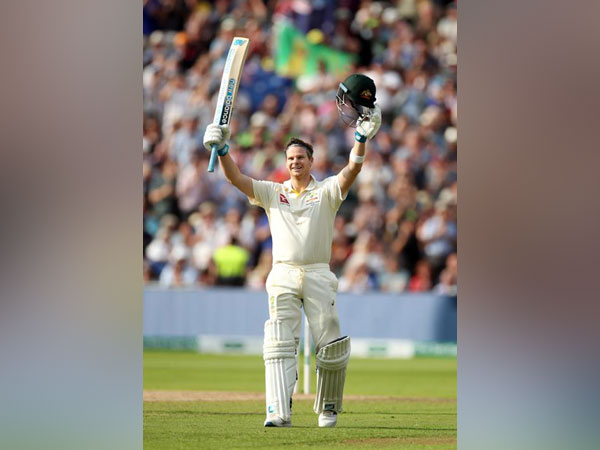 Steven Smith after scoring his hundred against England at Edgbaston.