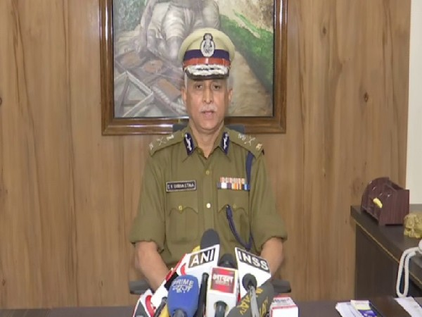 New Delhi Police Commissioner SN Shrivastava speaking to media on Saturday. Photo/ANI